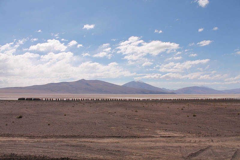Convoy Train crossing the altiplano