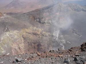 Lascar Volcano, crater