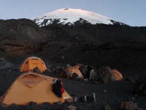 Parinacota Volcano (high camp at 5.180 masl)